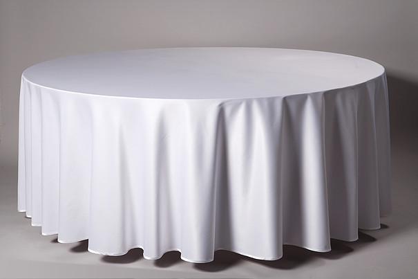 Balta apvali staltiesė T1