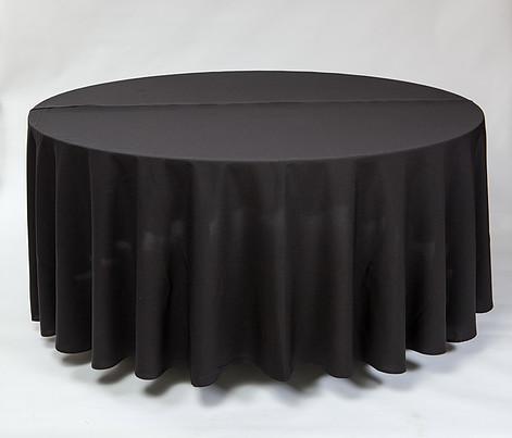 Juoda apvali staltiesė T4