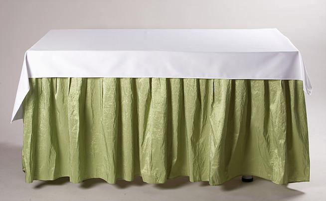Žalias banketinis stalo sijonas W2