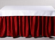 Bordo banketinis stalo sijonas W3