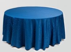 Mėlina apvali staltiesė