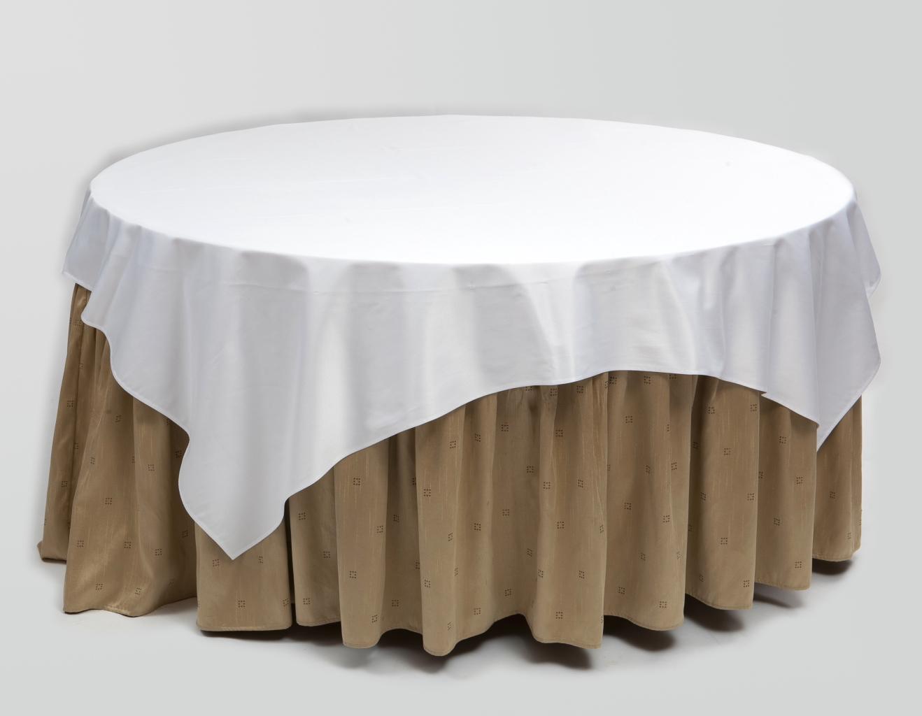 Dviejų dydžių staltiesės apvaliam stalui